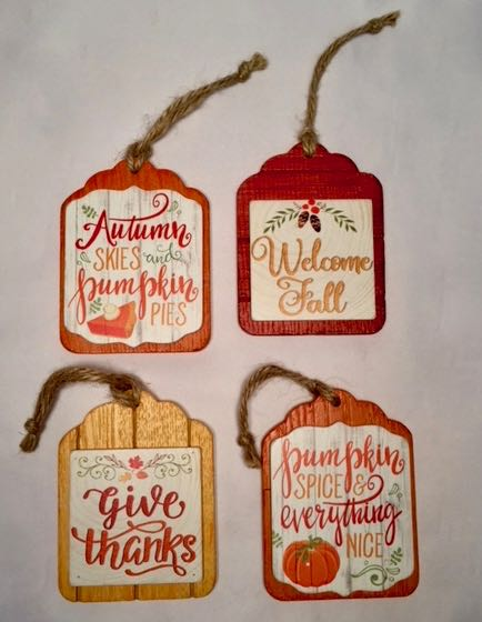 Wood Harvest Plaques Small