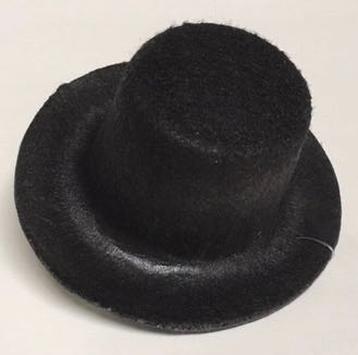 Black Top Hat 3 inch