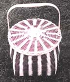 Vertical Stripe Feather Basket