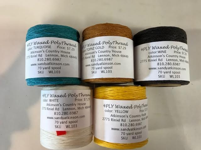 Main Thread Waxed Poly Cord 4 Ply
